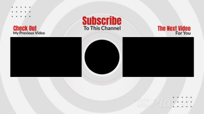 YouTube End Screen Video Maker Featuring a Simple Layout 996-el1