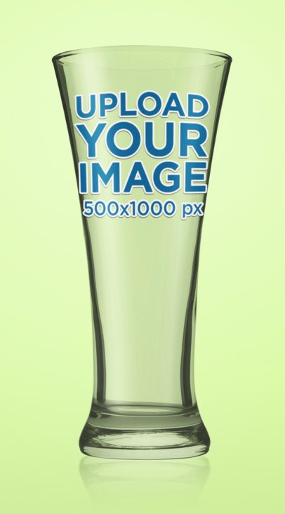 Mockup of an Empty Beer Glass with a Customizable Background 35659-r-el2