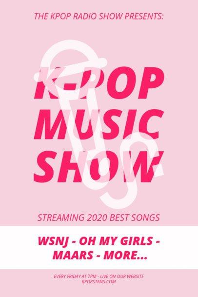 Online Poster Design Maker for a K-Pop Show 1903c-el1