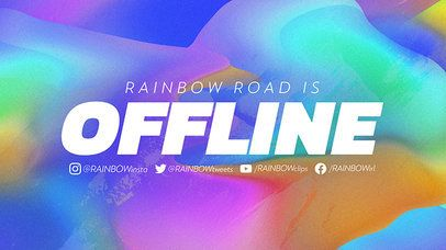 Twitch Offline Banner Featuring Futuristic Colorful Backgrounds 2670