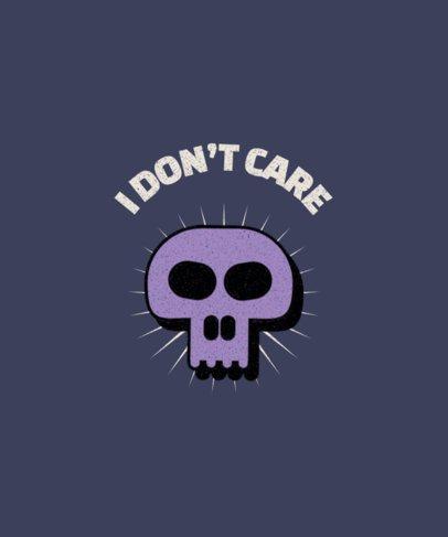 Quote T-Shirt Design Generator with a Skull Graphic 1964c-el1
