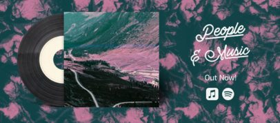 Facebook Cover Generator Featuring Textured Background for Independent Music Promo 2675c
