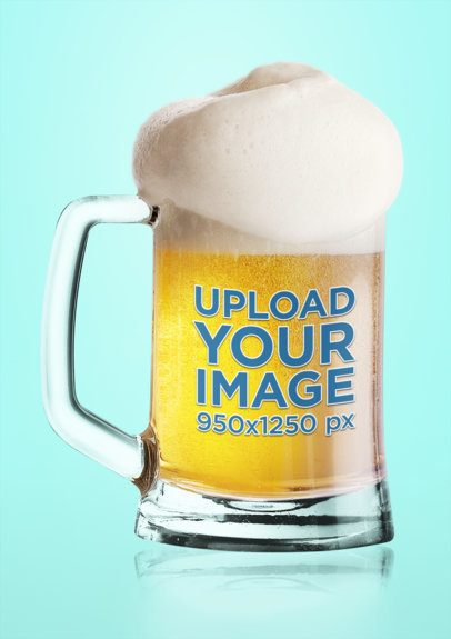 Mockup of a Small Beer Glass with a Customizable Background 35537-r-el2