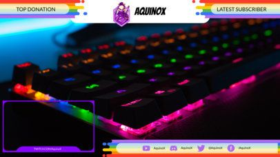 Twitch Overlay Template Featuring Colorful LGBT-Themed Graphics 2669