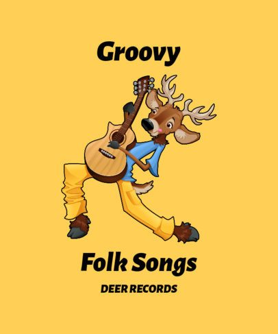 T-Shirt Design Creator Featuring a Groovy Deer Graphic 1965b-el1