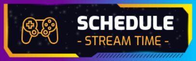 Twitch Panel Template Featuring a Colorful Background 2671b