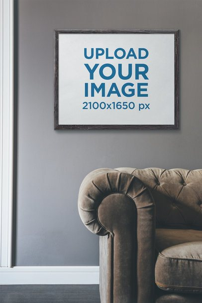Mockup of an Art Print Placed in a Living Room 4882-el1