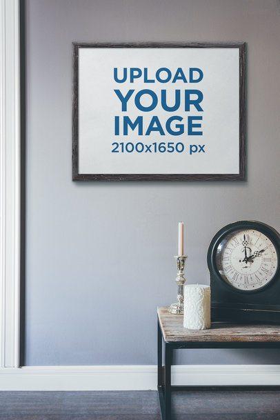 Art Print Mockup Featuring a Vintage Clock 4883-el1