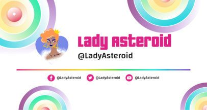 Twitch Banner Generator with a Drag Queen Graphic 2668i