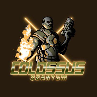Gaming Logo Creator Featuring a Quantum Futuristic Warrior 3403a