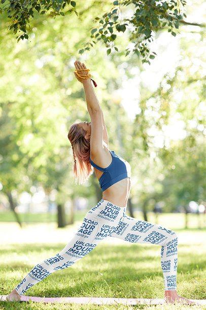 Leggings Mockup Featuring a Female Yogi at a Park 38586-r-el2