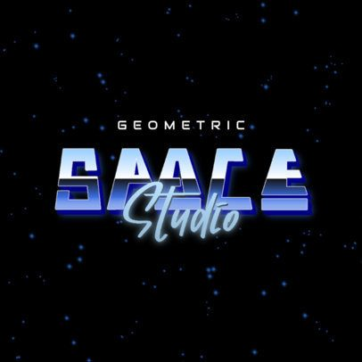 Retro Logo Maker Featuring a Space Background with Futuristic Typography 3398f