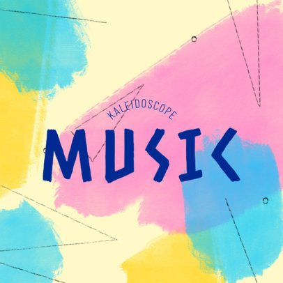Musician Logo Creator Featuring a Dynamic Background with Customizable Typography 3391g
