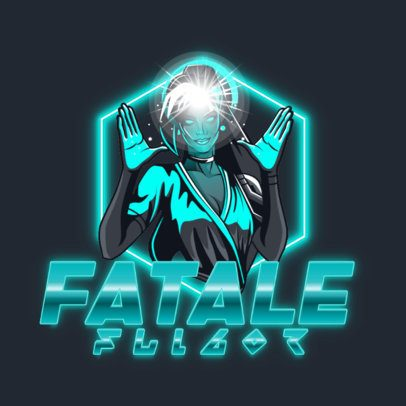 Logo Maker of a Woman with Energybending Powers 3403c