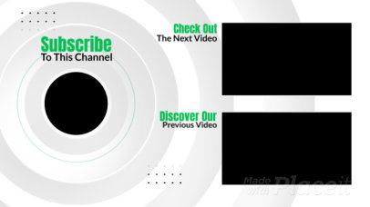 Minimal YouTube End Screen Video Maker with Animated Circles 998-el1