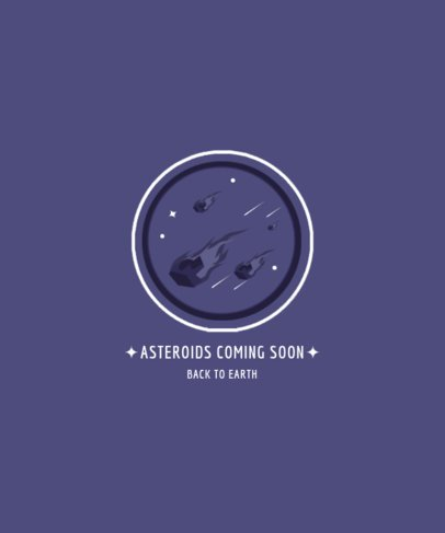 Fun T-Shirt Design Template with an Asteroids Graphic 2136b-el1