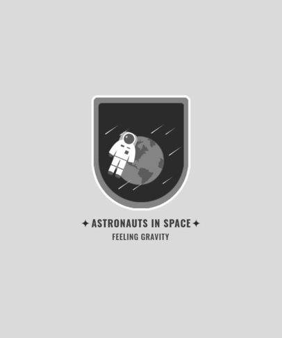 T-Shirt Design Maker with a Simple Graphic of an Astronaut in Space 2136c-el1