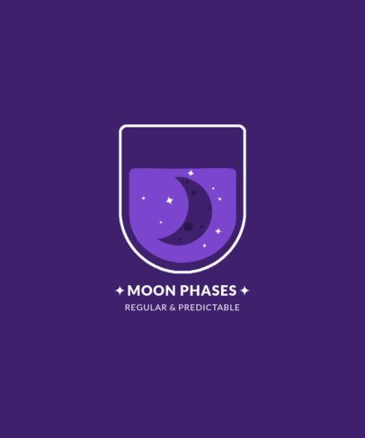 T-Shirt Design Creator with a Quote About Moon Phases 2136d-el1