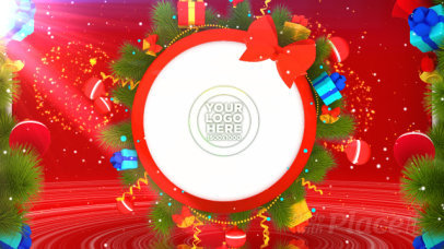 Intro Maker for a Logo Reveal Featuring Christmas Motion Graphics 369-el1