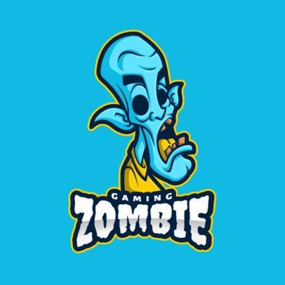 Online Logo Maker Featuring a Blue Zombie 2027b-el1