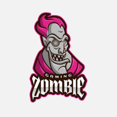 Logo Creator Featuring a Pink-Haired Evil Creature 2027f-el1