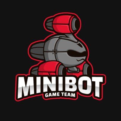 Gaming Logo Maker with Character Illustrations of Robots 2008-el1