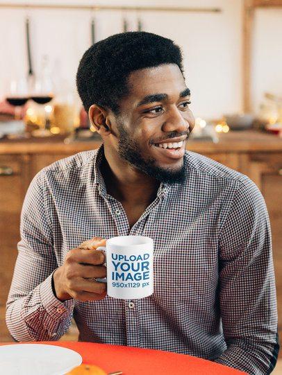 Mockup of a Happy Bearded Man Holding an 11 oz Coffee Mug 38864-r-el2