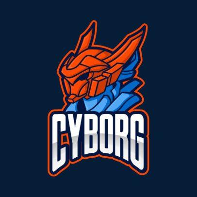 Illustrated Gaming Logo Creator with a Cyborg Warrior 2008f-el1