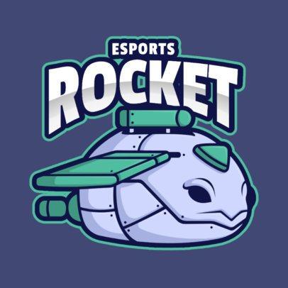 Illustrated Gaming Logo Maker with a Rocket Robot Character 2008h-el1