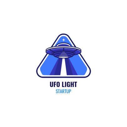 Logo Generator for Startup Companies Featuring a UFO Illustration 2077b-el1