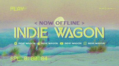 Twitch Offline Banner Creator for an Indie Band 2700d