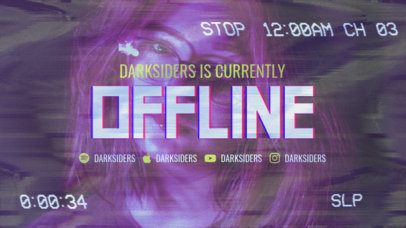 Twitch Offline Banner Creator Featuring a Film Filter 2700h