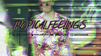 Twitch Offline Banner Template with a Vintage Glitch Effect 2700e