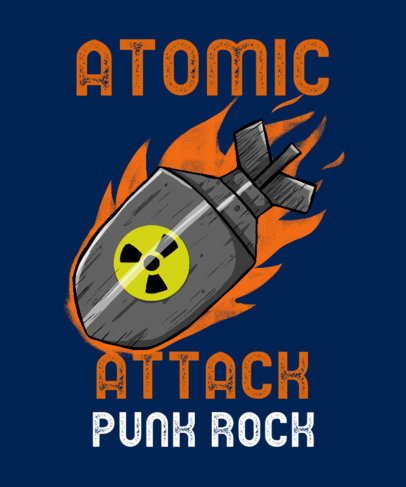 Punk T-Shirt Design Maker with an Atomic Bomb Illustration 2696c