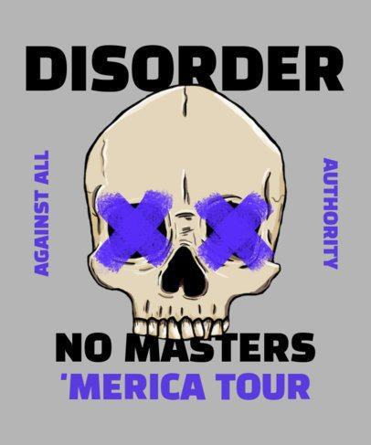 T-Shirt Design Maker For a Rock Band Tour 2696e