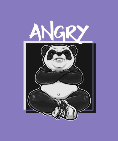 Illustrated T-Shirt Design Creator with an Angry Panda Graphic 2083c-el1