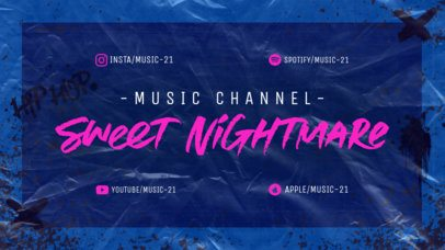 Twitch Offline Banner Generator for a Musician's Channel Featuring a Textured Surface 2703j