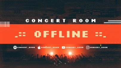 Twitch Offline Banner Maker to Announce a Live Concert 2705b