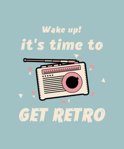 Retro T-Shirt Design Creator with a Vintage Radio Graphic 2693d