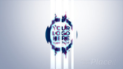 Minimal Intro Maker for a Logo Reveal with a Glass-Like Animation Effect 1339-el1