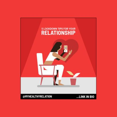 Instagram Post Maker Featuring Lockdown Tips for Relationships 1986a-el1