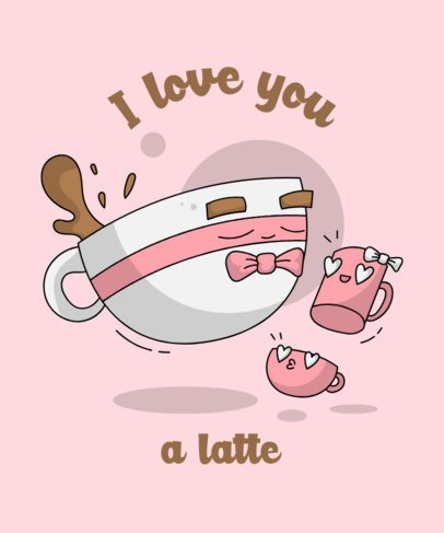 Cute T-Shirt Design Creator with a Coffee-Themed Pun 2041d-el1