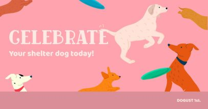 Facebook Post Creator Featuring a Shelter Dog Celebration Quote 2702e