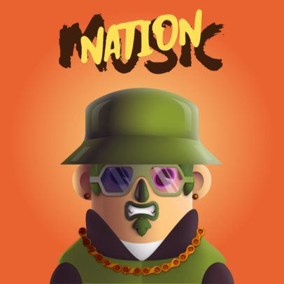 Avatar Logo Maker Featuring a Character with 3D Glasses 3428b