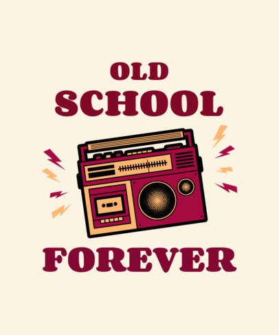 Retro T-Shirt Design Maker Featuring an Old School Audio Recorder 2693g