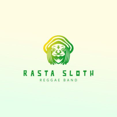 Online Logo Template for a Reggae Band 3427b
