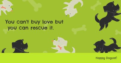 Dogust-Themed Facebook Post Generator Featuring a Quote for Rescued Dogs 2702d