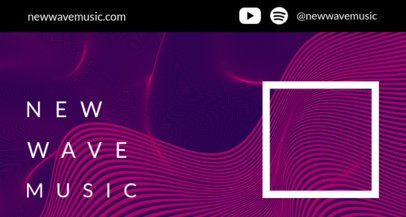 Twitch Banner Maker for a Music Channel Featuring Thin-Line Waves 2150-el1