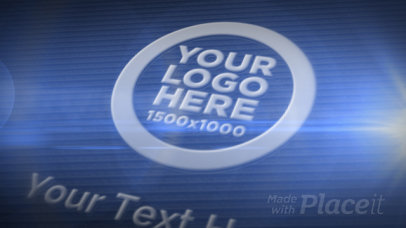 Professional Intro Maker Featuring a Logo Reveal with Tridimensional Graphics 1182-el1