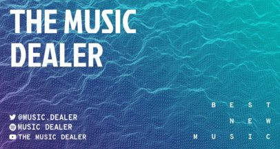 Twitch Banner Creator Featuring Waves for a Music Channel 2153a-el1